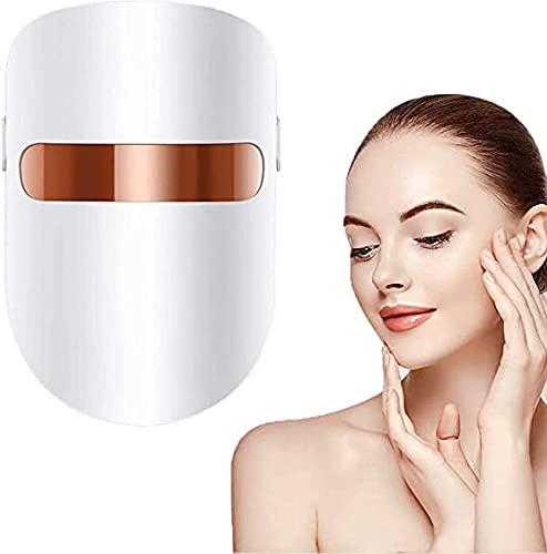 LED Light Therapy Mask Maschera radiofrequenza viso Per Fototerapia Photon Terapia LED Light 3 colori luce facciale trattamento bellezza pelle ringiovanimento fototerapia maschera
