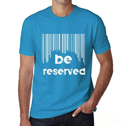 One in the City Hombre Camiseta Vintage T-Shirt Barcode Be Reserved Azul