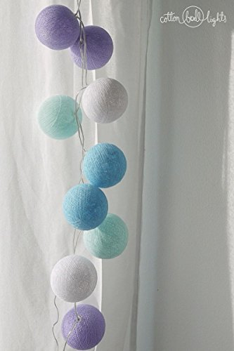 Cotton Ball Lights Lichtsnoer Textiel Ball slinger lampions baby-lavender 20 ballen