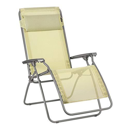 LAFUMA MOBILIER Relax-Liegestuhl, Klappbar und verstellbar, R Clip, Batyline, Farbe: Etamine, LFM4020-9267