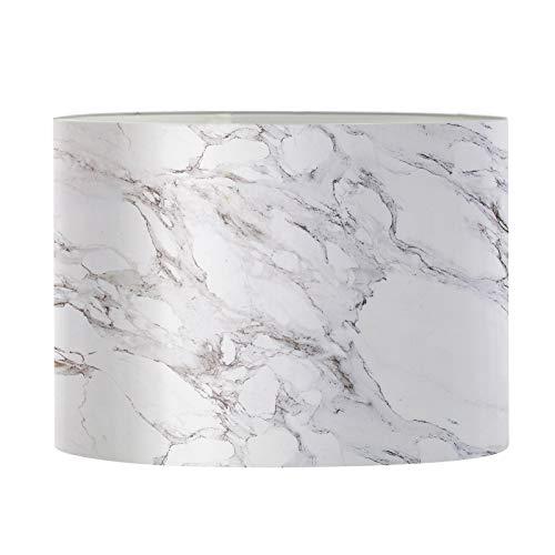 Aulaygo Pantalla de lámpara blanca con textura de mármol para lámpara de...