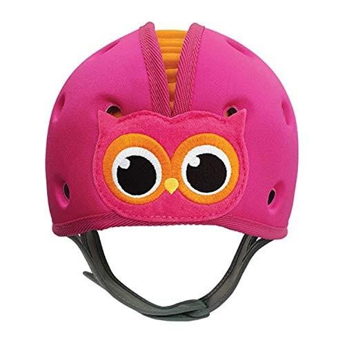 SafeheadBABY Weicher Helm, für Babys zum Laufenlernen, Eule, Pink / Orange