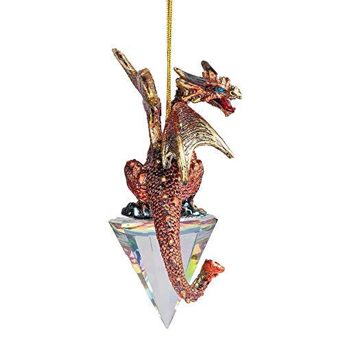Design Toscano Diamond Dragon Gothic Holiday Christmas Ornament, Single, Full Color