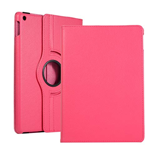 APOLL Case for Samsung Galaxy Tab A 8.0 2019 SM-T290/T295, T290 Case, 360 Degree Rotating Stand Anti-Scratch PU Leather + Hard PC Thin Lightweight Fit Galaxy Tab A 8.0 inch 2019 Tablet, Rose