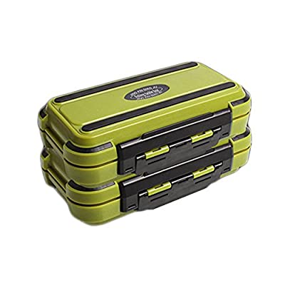 Portable 24 Compartments Double Layer Durable Fishing Lure Tackle Plastic Storage Box by Goodtimes28