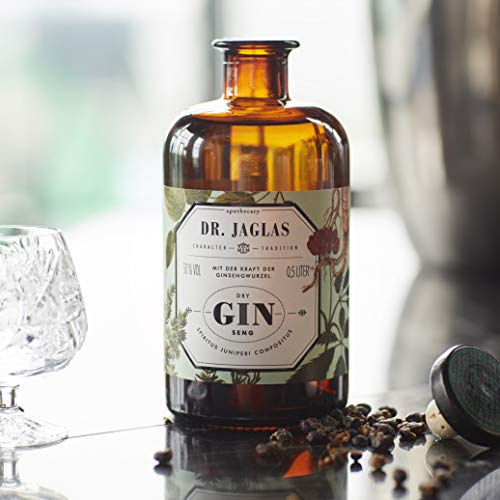 Dr. Jaglas Gin Seng | Wacholderbeer-Spiritus als Einzelflasche mit 500 ml | 50% Vol… - 7