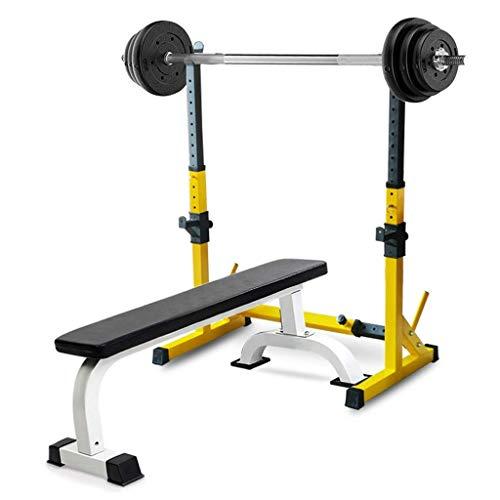 HAOYF Verstellbarer Kniebeugenständer und Hantelbank Bankdrücke Rack Fitnessbank Umweltfreundlich Langhantelablage Gewicht Training Ausrüstung