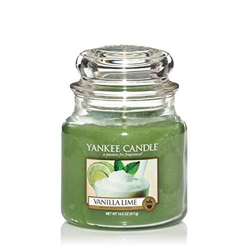 Yankee Candle Candela profumata in giara media | Calce alla vaniglia | Durata Fino a 75 Ore