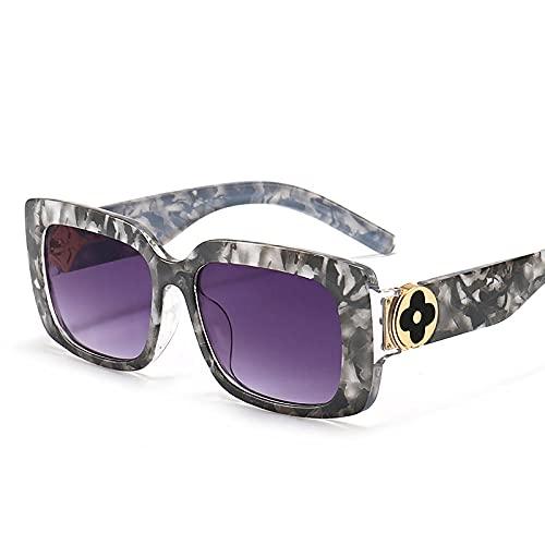 Gosunfly Gafas de sol de metal de moda para mujer, gafas de hombre con marea de tinta anti-UV, gris