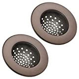 mDesign Modern Kitchen Sink Strainer, Drain Cover for Standard Kitchen Sinks, Double Farmhouse Sinks, Utility...