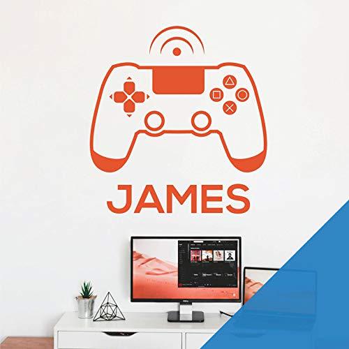 Wandaufkleber für Spielkonsole, Game Controller – XBox, Playstation, personalisierbar, mit Namen [Ozean]