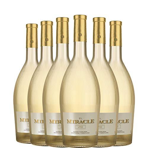 El Miracle Nº3 Vino Blanco Premium D.O. Valencia caja 6 botellas 75 cl.