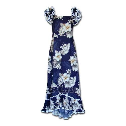 d22ced854e5 Plumeria Floral Muumuu Hawaiian Dress - Womens Hawaiian Dress - Aloha Dress