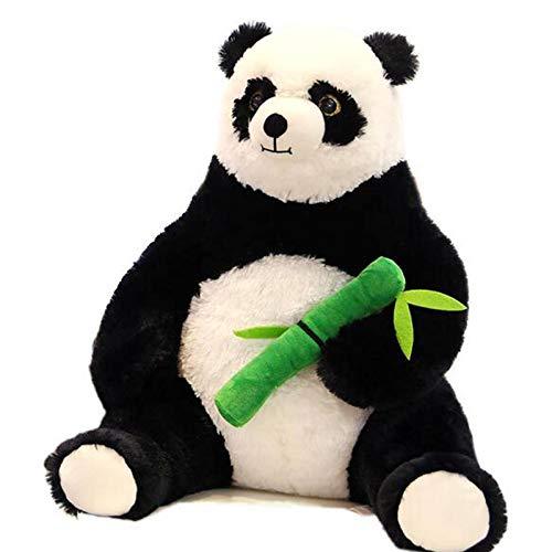 Almohada HCGS 50 cm Gordo de Dibujos Animados Panda Abrazando Juguetes de Peluche de bambú para niños muñeca Animal Suave Regalo para niños Almohada 50 cm