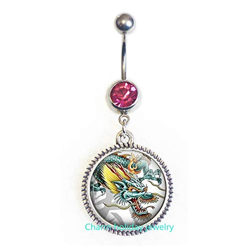 Dragon Belly Ring,Dragon Belly Button Ring,Dragon Belly Ring,Flying Dragon Belly Ring,Symbolic Belly Ring-#190