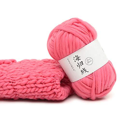 Kerstgaren voor breien, grove wol DIY zachte sjaals truien met de hand geweven haak breien natuurlijke draden app.2mm-7mm/0.08in-0.28in 12