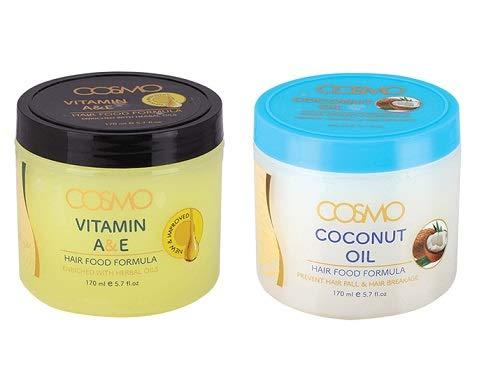 Pack of 2 Hair Food Formula Pomade 5.7 oz Herbal Oil Formula with Moroccan Argan Oil Strengthens and Repair Hair (Coconut Oil + Vitamin E)
