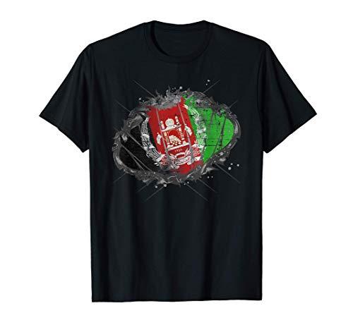 Afghanistan Afghanisch Staatsbürgerschaft Fahne Flagge T-Shirt