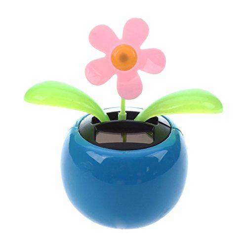 Fltaheroo Azul lindo Flip Flap Swing Bailando Juguetes de flores accionados solares
