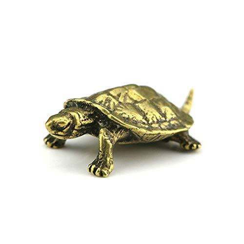 ZWWZ Pure Kupfer Turtle Statue Vintage Messing Schildkröte Miniaturen Figuren Home Decorations Auto Ornament Schreibtisch Dekor Zubehör Handwerk MISU