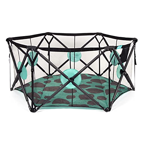Milliard Playpen Portable Playard with Cushioning for Safety, for Travel, Indoor and Outdoor Play Yard Pen (6 Sided)