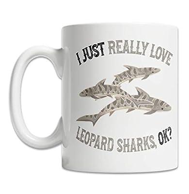 I Love Leopard Sharks Mug for Leopard Shark Lovers (11oz) - Cute and Funny Leopard Shark Mug