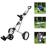 MEIQI Chariot De Golf À 4 Roues - Trolley À Trous en Aluminium Léger, Pliable, Facile À Ouvrir, pour Les Amateurs De Golf