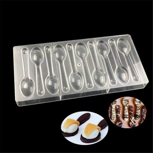 valink 10agujeros cuchara forma policarbonato molde para Chocolate Candy moldes Jelly bandeja para horno de horno plástico PC molde fondant decoración de pasteles herramientas