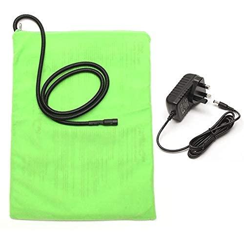 Manta eléctrica con calefacción para mascotas de 12 V, almohadilla de calefacción eléctrica para gatos y perros, colchoneta térmica impermeable (color: café) YXF99 (color verde)
