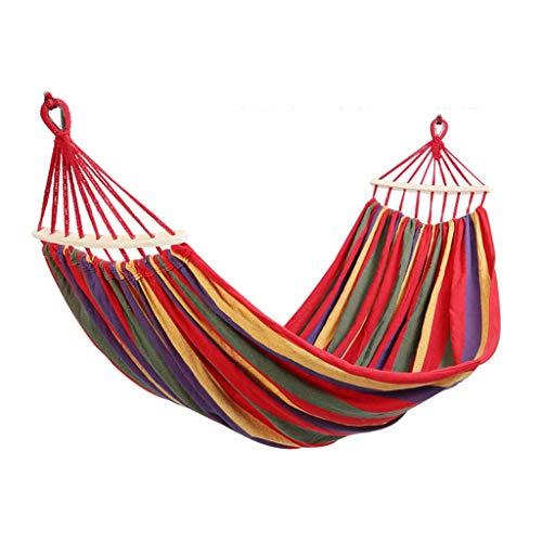 ZZL Amaca Camping Hamaca Swing Bed Hamgols Adultos Al Aire Libre Cuerda Hamaca Portátil para Jardín Patio Trasero Playa Al Aire Libre Durable (Color : Red)