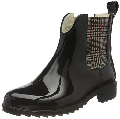 Rieker Damen Stiefeletten P8280, Frauen Chelsea Boots,halbstiefel,Bootie,Schlupfstiefel,gefüttert,Winterstiefeletten,schwarz (05),40 EU / 6.5 EU