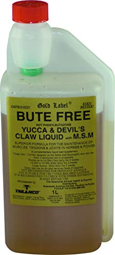 Gold Label Bute Free, Horse Supplement, 1 Litre