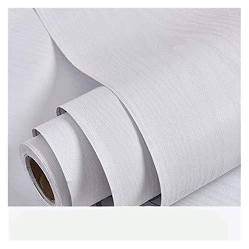 HYCSP Holzmaserung Tapete Vinyl Selbstklebendes Dekorfolie for Wohnzimmer Küchenschrank Möbel Wasserdicht Kontakt Papier (Color : White Thick Wood, Size : 40cm x 5m)