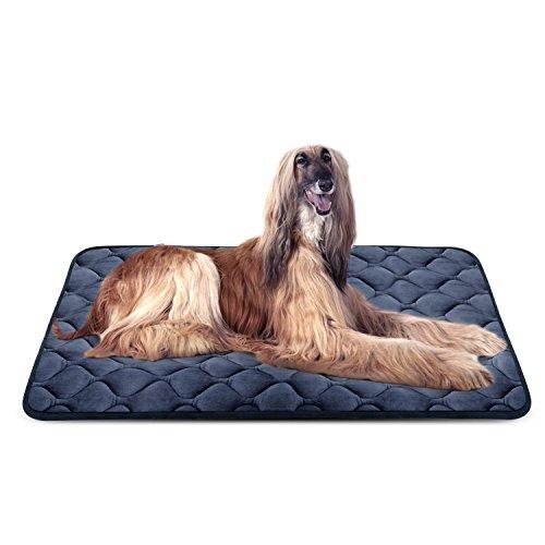 Weiche Hundebett Große Hunde Luxuriöse Hundedecken Waschbar Strapazierfähige Hundekissen rutschfeste Hundematte Dunkel Blau XL HeroDog