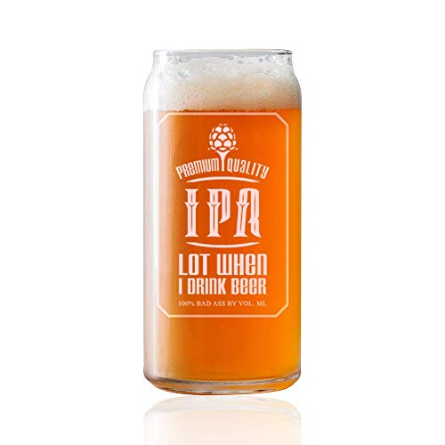 IT'S A SKIN I Pee a Lot - IPA lot When I Drink Beer - 20oz Beer Can Shape Beer Glass for Men, Women, Brother, mom, dad Birthday, Anniversary