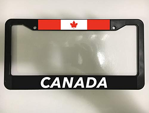 Canada Canadian Maple Leaf Flag Toronto Quebec Black License Plate Frame New Auto Car Novelty Accessories License Plate Art