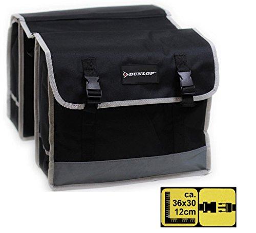 Dunlop Doppel Satteltasche Fahrradtasche Gepäckträger Wetterfeste Tasche