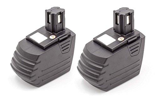 vhbw 2 x Akku passend für Hilti SFH151, SFH 151-A Elektrowerkzeug Werkzeug Powertools Tools (1500mAh, 15.6V, NiMH)