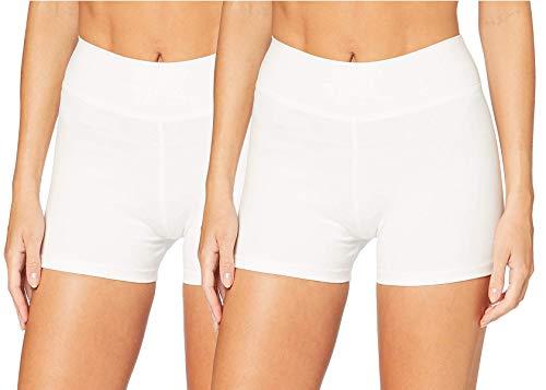 iloveSIA Damen Hotpants Laufhose Yoga weiß Shorts Gym Shorts Kleider Pole Dance Hosen x2,M