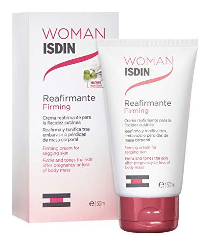 ISDIN WOMAN Reafirmante, Crema con Aceite de Rosa Mosqueta para la Flacidez Tras el Embarazo o Pérdidas de Peso, 150ml