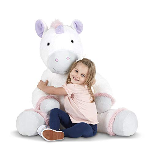 Melissa & Doug Gentle Jumbo Unicorn Giant Stuffed Plush Animal (Sits Nearly 3 Feet Tall)