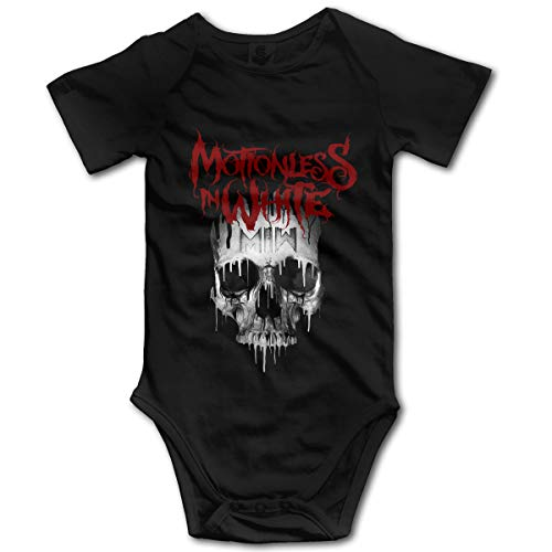U are Friends Motionless in WhiteGirl Boy Kids Combi-Short pour bébé pour bébé,Combinaison pour Enfant en Bas âge(18M,Noir)