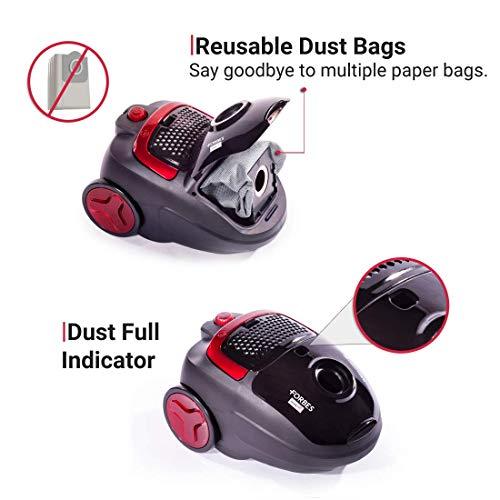 Eureka Forbes Trendy Zip 1000-Watt Vacuum Cleaner (Black/Red)