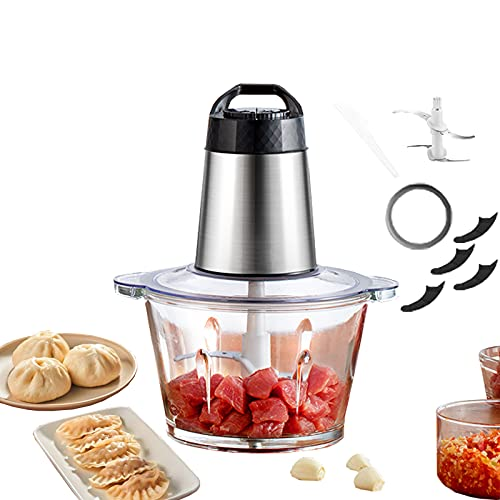 Procesador De Alimentos 300W2L, Completamente Automático, Multifuncional, Cuenco De Vidrio, Cuerpo, Carne Picada, Verduras, Cocción, Mezcla, Máquina De Cocción De Alimentos Complementaria