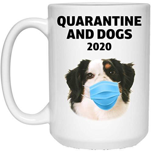N\A Funny Quarantine 2020 y Taza de café Blanca con Pastor Americano en Miniatura