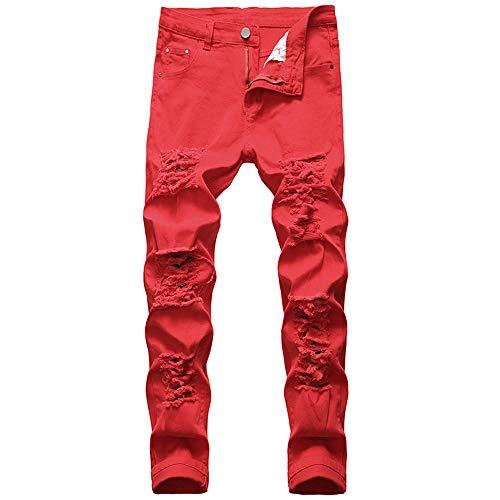 N\P Pantalones vaqueros de pierna recta pantalones flacos de los hombres pantalones vaqueros de los hombres más tamaño