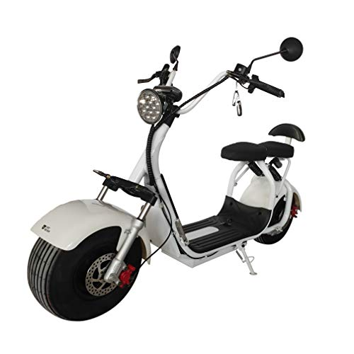 FatBear FAT CITY ES295 3.1 Fat Tire Electric Scooter 3 Speed 2000 watt motor by FatBear 1-2 person with LED Light and Battery Life Display, Remote Start, Rechargeable 30AH Battery
