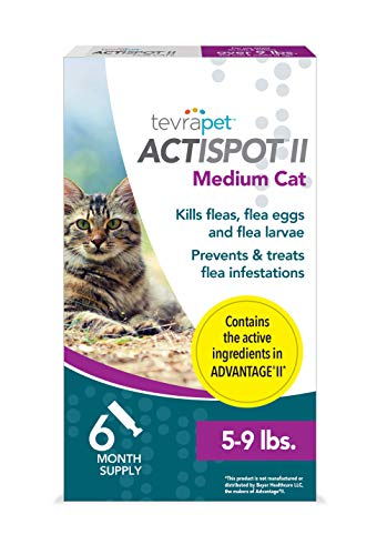 TevraPet Actispot II Flea Prevention for Cats- 5-9 lbs, 6 doses