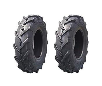 Deli Tire Set of 2 Tires 4.80/4.00-8 Tubeless 4 Ply Rating Tiller Trencher Lug Farm Tires