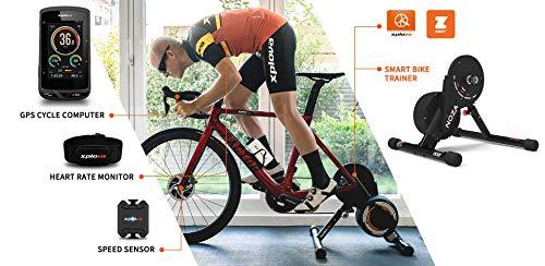 XPLOVA NOZA N1 - Entrenador de Bicicleta Inteligente, Unisex, Color Negro, Talla única